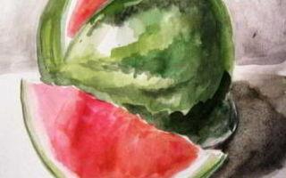 Советы о том, как нарисовать арбуз