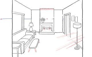 Рекомендации о том, как нарисовать комнату