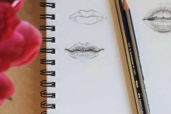 Как нарисовать рот: два пошаговых урока