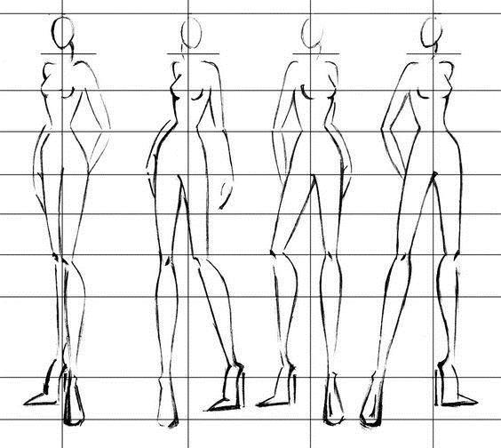 Как рисовать одежду для фэшн-эскизов