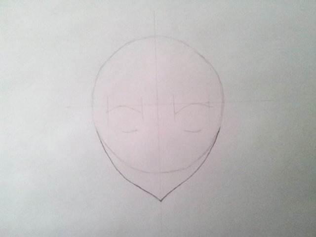 Как нарисовать лицо аниме девушки