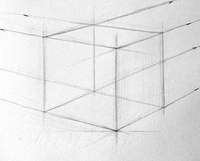 Как нарисовать объемный куб.