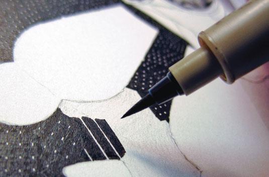 Как рисовать тушью: инструменты и материалы