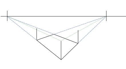 Как построить угловую перспективу на примере башни