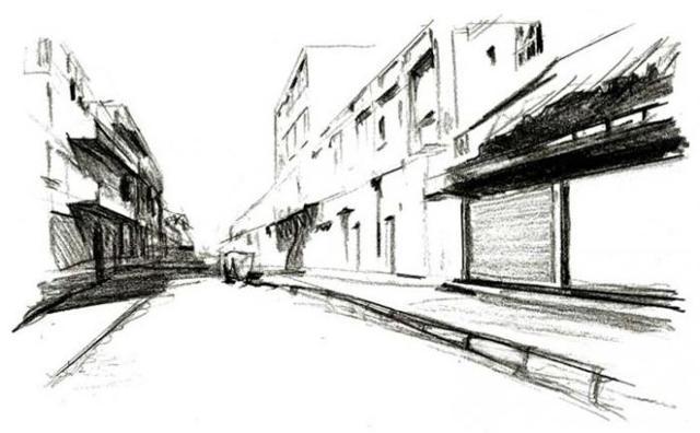 Как нарисовать улицу города?