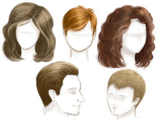 Как нарисовать волосы: основы