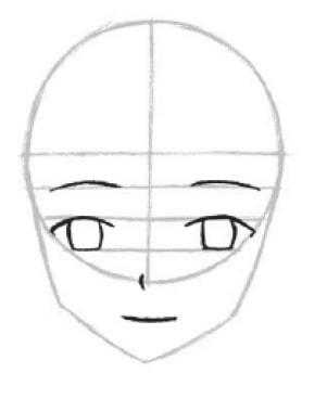 Как нарисовать мужское лицо аниме