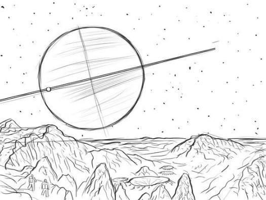 Как нарисовать космос поэтапно акварелью