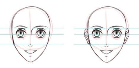 Как рисовать ухо? Рисунок карандашом с обучающими схемами