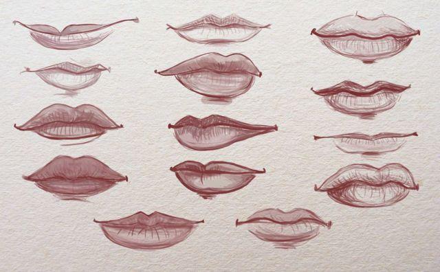 Как рисовать губы в портрете? Рисунок карандашом с обучающими схемами
