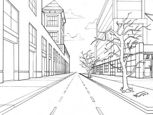 Рисование городской улицы в перспективе: наглядные схемы и ключевые принципы