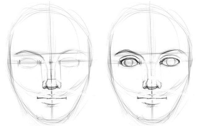 Как рисовать нос? Поэтапный рисунок с обучающими схемами