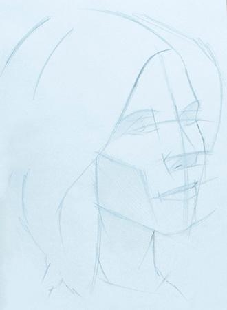 Рисуем портрет: поэтапный рисунок головы человека