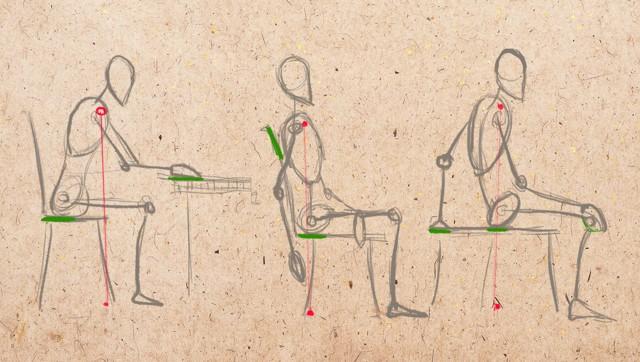 Рисуем человека в движении с помощью манекена для художника