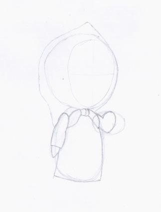 Как рисовать Машу и медведя из мультфильма? «Маша и Медведь» поэтапный рисунок карандашом