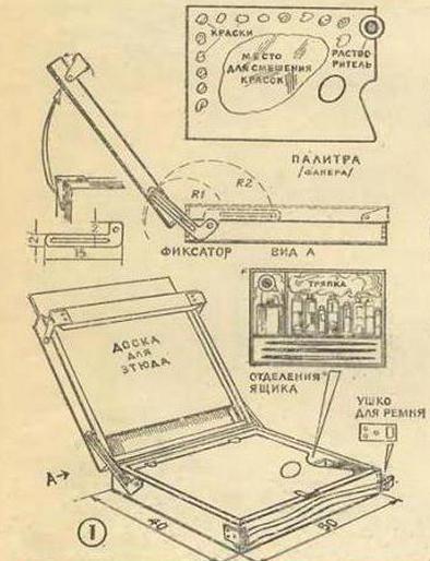 Как сделать этюдник своими руками?