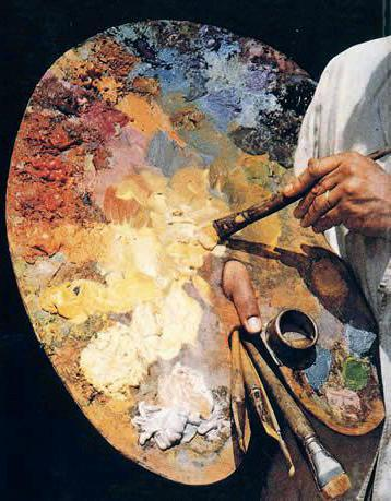Какие бывают палитры для живописи?